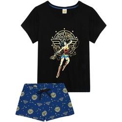 Textiel Dames Pyjama's / nachthemden Wonder Woman  ZWART/BLAUW