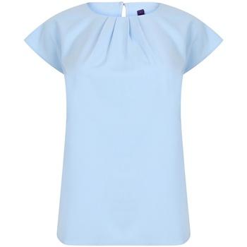 Textiel Dames T-shirts korte mouwen Henbury HB597 Lichtblauw