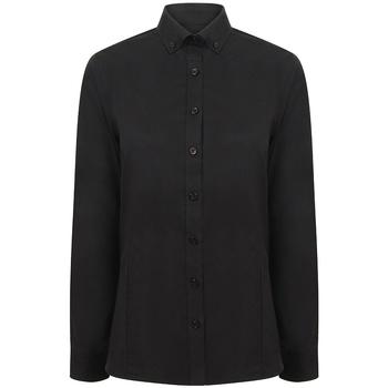 Textiel Dames Overhemden Henbury H513R Zwart