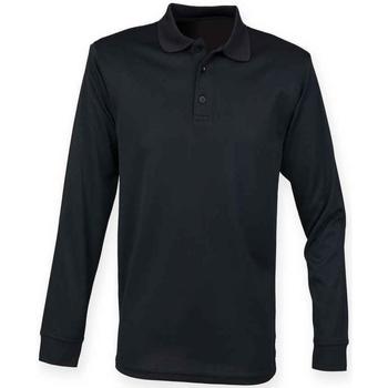 Textiel T-shirts & Polo's Henbury H478 Zwart