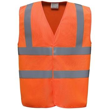 Textiel Vesten / Cardigans Yoko YK110 Oranje