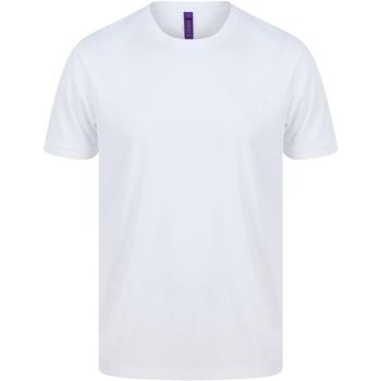Textiel Heren T-shirts korte mouwen Henbury H024 Wit