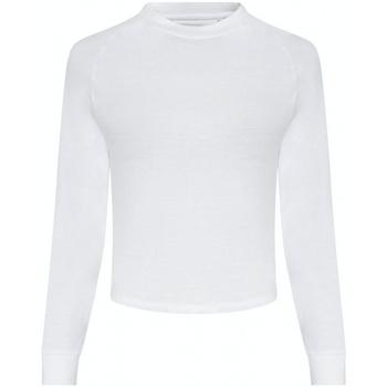 Textiel Dames T-shirts met lange mouwen Awdis JC116 Arctisch Wit