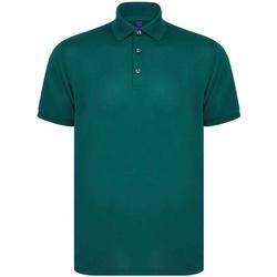 Textiel Heren Polo's korte mouwen Henbury H465 Fles groen