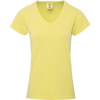 Textiel Dames T-shirts korte mouwen Comfort Colors CO011 Boter