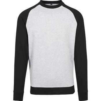 Textiel Heren T-shirts met lange mouwen Build Your Brand BY076 Heide Grijs/Zwart