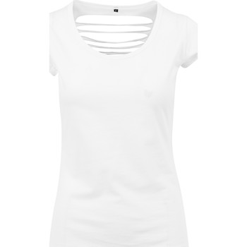 Textiel Dames T-shirts korte mouwen Build Your Brand BY035 Wit