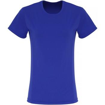 Textiel Dames T-shirts korte mouwen Tridri TR024 Koningsblauw