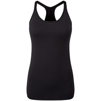 Textiel Dames Mouwloze tops Tridri TR217 Zwart