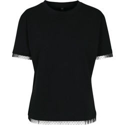 Textiel Dames T-shirts korte mouwen Build Your Brand BY124 Zwart