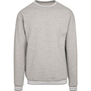 Textiel Heren Sweaters / Sweatshirts Build Your Brand BY104 Heide Grijs/Wit