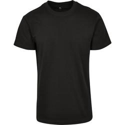 Textiel T-shirts korte mouwen Build Your Brand BY123 Zwart
