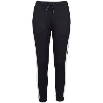 Textiel Dames Trainingsbroeken Build Your Brand BY103 Zwart/Wit