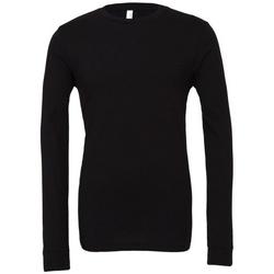 Textiel T-shirts met lange mouwen Bella + Canvas BE044 Zwart