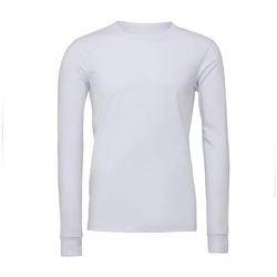 Textiel T-shirts met lange mouwen Bella + Canvas BE044 Wit