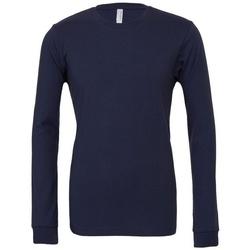 Textiel T-shirts met lange mouwen Bella + Canvas BE044 Marine