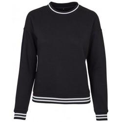 Textiel Dames Sweaters / Sweatshirts Build Your Brand BY105 Zwart/Wit