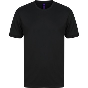Textiel Heren T-shirts korte mouwen Henbury HB024 Zwart