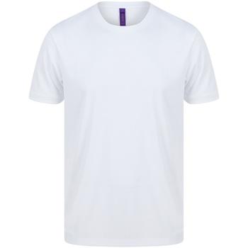 Textiel Heren T-shirts korte mouwen Henbury HB024 Wit