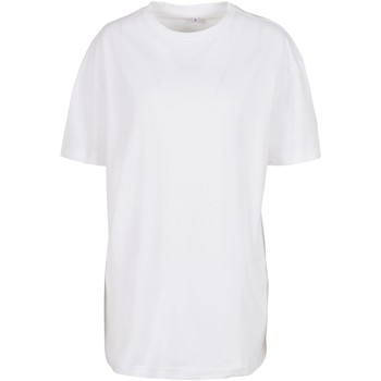 Textiel Dames T-shirts korte mouwen Build Your Brand BY149 Wit