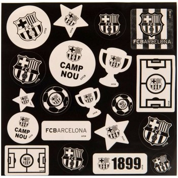 Wonen Posters Fc Barcelona Taille unique Wit/zwart