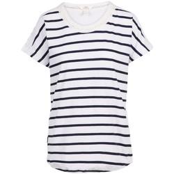 Textiel Dames T-shirts korte mouwen Trespass  Marine / Wit