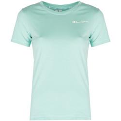 Textiel Dames T-shirts korte mouwen Champion  Blauw
