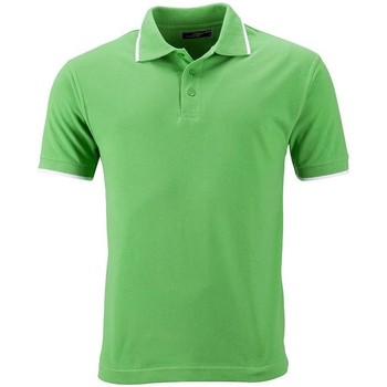 Textiel Dames Polo's korte mouwen James And Nicholson  Kalk groen/wit