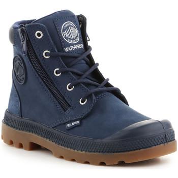 Schoenen Kinderen Hoge sneakers Palladium Pampa Hi CUFF WP K 53476-425-M navy