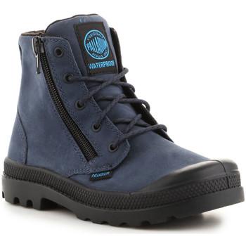 Schoenen Heren Hoge sneakers Palladium Pampa Hi Lea Gusset 52744-432 navy
