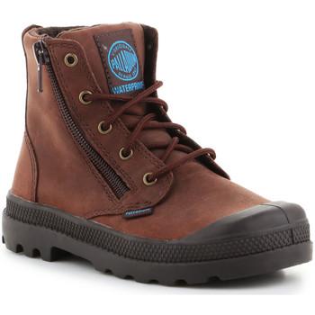 Schoenen Kinderen Laarzen Palladium Pampa Hi Lea Gusset 52744255 brown