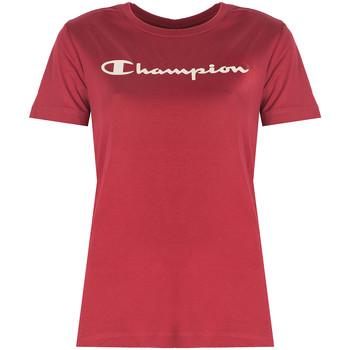 Textiel Dames T-shirts korte mouwen Champion  Rood