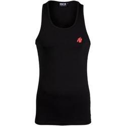 Textiel Heren Mouwloze tops Gorilla Wear Adams Stretch Tank Top Black Zwart