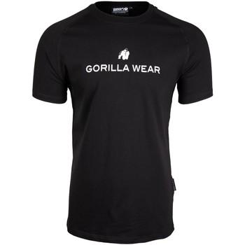 Textiel Heren T-shirts korte mouwen Gorilla Wear Davis T-Shirt  Black Zwart