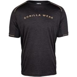 Textiel Heren T-shirts korte mouwen Gorilla Wear Fremont T-Shirt  Black/Gold Zwart