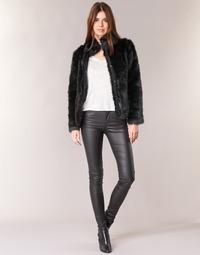 Textiel Dames 5 zakken broeken Vero Moda SEVEN Zwart