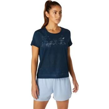Textiel Dames T-shirts korte mouwen Asics Ventilate SS Top Bleu marine