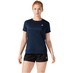 Textiel Dames T-shirts korte mouwen Asics Core SS Top Bleu marine