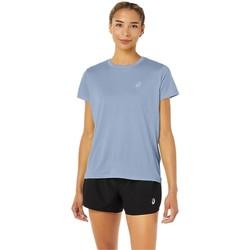 Textiel Dames T-shirts korte mouwen Asics Core SS Top Bleu
