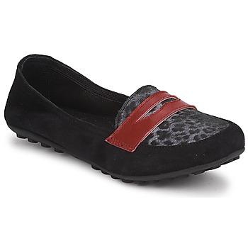 Schoenen Meisjes Mocassins Mod'8 CELEMOC JUNIOR Zwart / Luipaard / Rood
