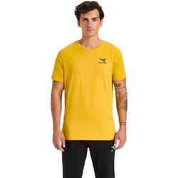 Textiel Heren T-shirts korte mouwen Diadora Ss Chromia Geel