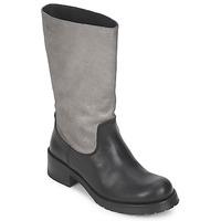 Schoenen Dames Hoge laarzen Pastelle PETULA Zilver/ zwart