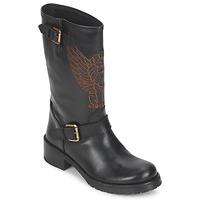 Schoenen Dames Laarzen Pastelle ANGEL Zwart