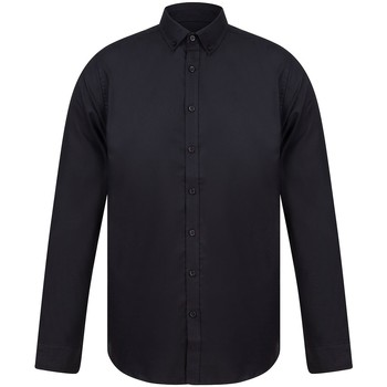 Textiel Heren Overhemden lange mouwen Henbury H512S Zwart