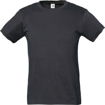 Textiel Jongens T-shirts korte mouwen Tee Jays TJ1100B Donkergrijs