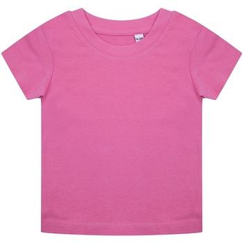 Textiel Dames T-shirts korte mouwen Larkwood LW620 Helder Roze