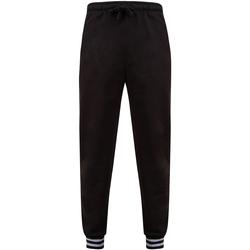 Textiel Broeken / Pantalons Front Row FR640 Zwart/Heather Grey
