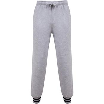 Textiel Broeken / Pantalons Front Row FR640 Heide Grijs/Navy