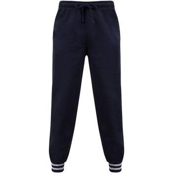 Textiel Broeken / Pantalons Front Row FR640 Marine / Heide Grijs