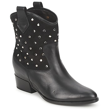 Schoenen Dames Laarzen Alberto Gozzi GIANNA Fluweel - zwart